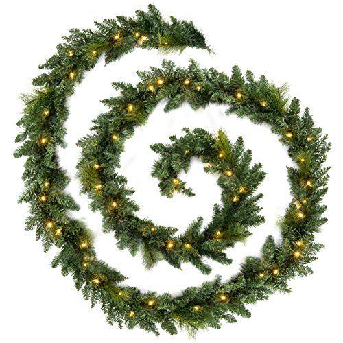 WeRChristmas+18+ft+Extra+Long+Pre-Lit+Garland+Christmas+Decoration+Illuminated+with+80+Warm+White+LED+Lights+WeRChristmas+http://www.amazon.co.uk/dp/B00KISC6BU/ref=cm_sw_r_pi_dp_I.iywb0TV8XKR