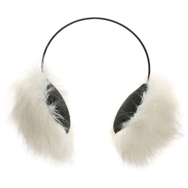 Steve Madden Luxe Faux Fur Earmuffs Women's Handbags & Accessories |... ($15) ❤ liked on Polyvore featuring accessories, faux fur earmuffs and steve madden