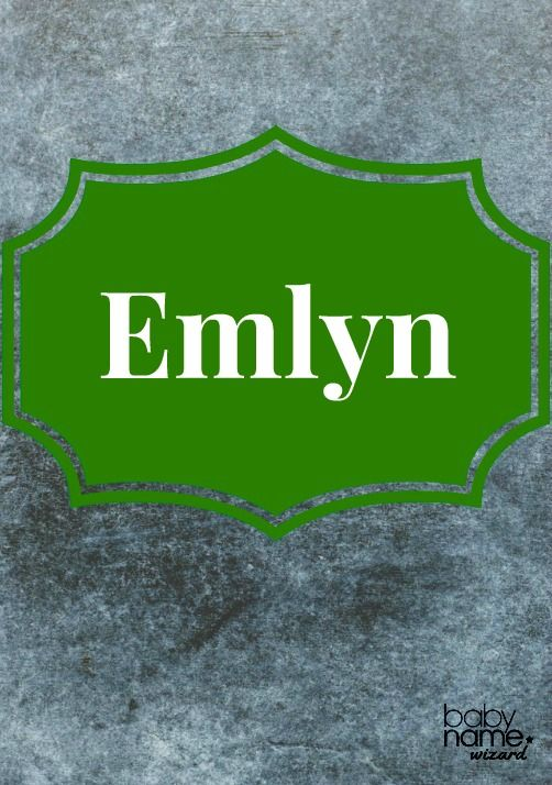Emlyn: It may look a bit made up, but Emlyn is actually a traditional Welsh name used for boys. Here in the US, it has loads of potential to sit alongside feminine choices like Kaitlyn, Evelyn, and Emmalyn. But Emlyn will catch most by surprise, as it's rather rare in this country. Celtic Baby Names