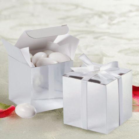 Silver Wedding Favor Boxes