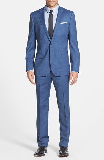 BOSS HUGO BOSS 'Huge/Genius' Trim Fit Wool Suit available at #Nordstrom