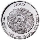 ⌂ő 2016 Native American Silver Dollar Sioux Buffalo 1 oz Proof Silver Cap SKU50926 http://ebay.to/2DUPq5P