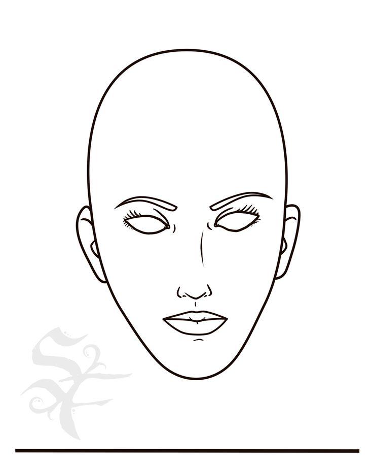 face chart template theater make up pinterest