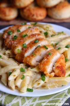 Eat Cake For Dinner: 30-Minute Garlic Parmesan Pasta with Crispy Chicken