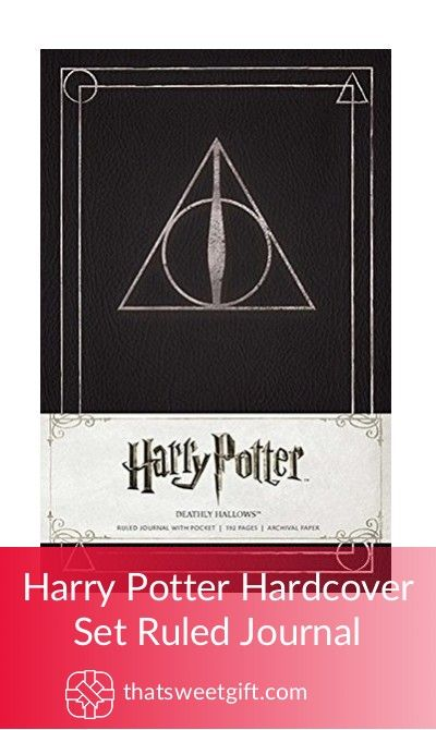 Harry Potter Hardcover Set Ruled Journal #thatsweetgift