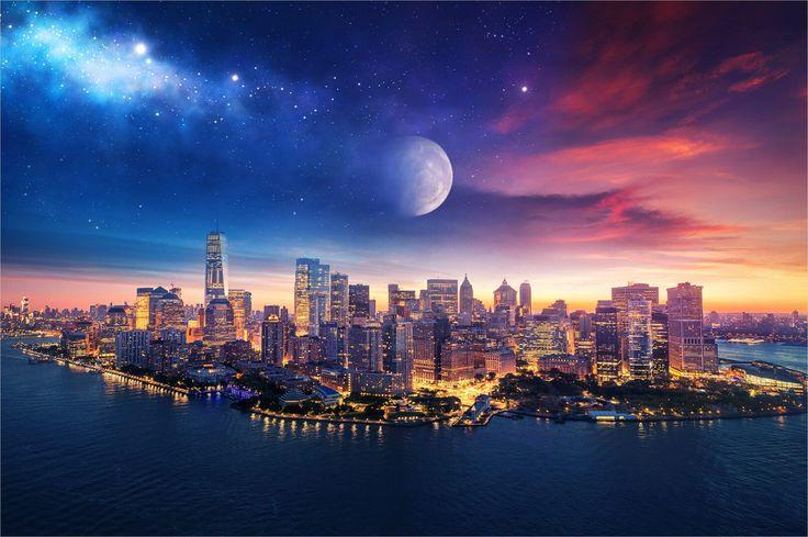 4k Pixel Art City Wallpaper in 2020   Starry night art ...