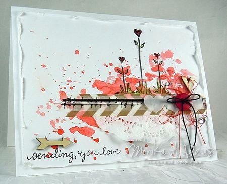 Collage (WC, vellum, washi tape, doily, wood veneer)