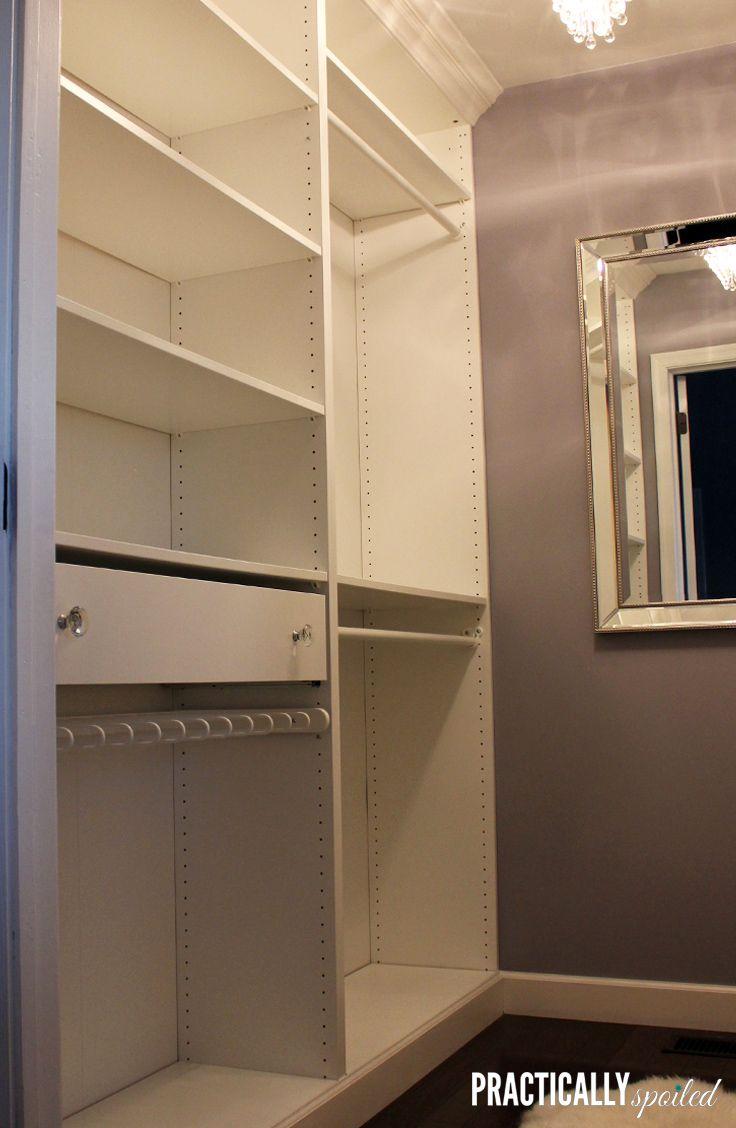 Materials ikea pax tonnes sliding doors white - Mastering The Closet An Ikea Pax Hack Diy Built Ins Practicallyspoiled Com
