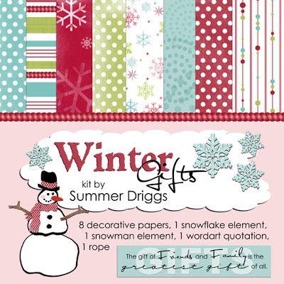 Christmas freebies digital scrapbooking