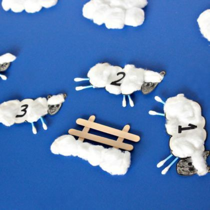 Counting Sheep Craft for Toddlers