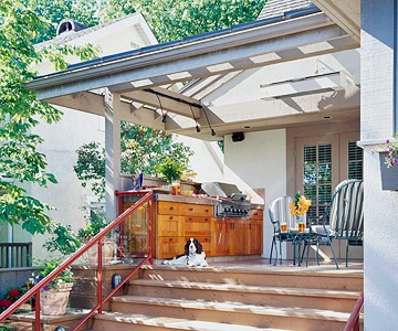 From BHG.com ... Provide Shelter ... Hmmmm. An expansion off the back patio?