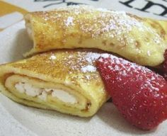 Low Carb Vanilla Ricotta Crepes with Strawberries (South Beach Phase 1 Recipe) | Diet Plan 101