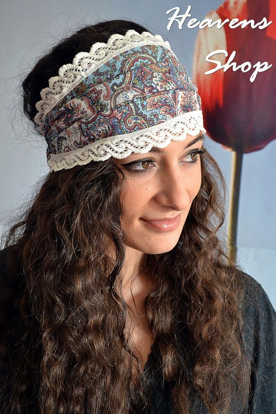Yoga Headband Wide Headband Bohemian Headband Boho by HeavensShop