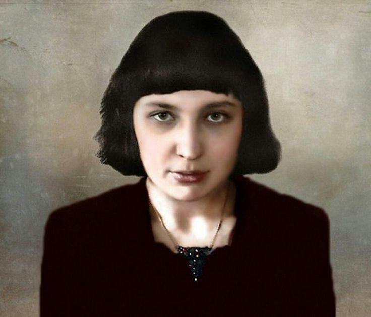 Марина Цветаева  Колоризированное фото