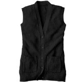 National Scramble Stitch Sweater Vest, Black, X-Large (Apparel)By National