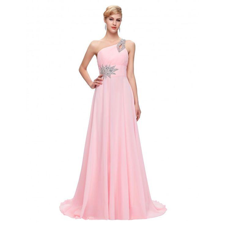 Ružové spoločenské šaty CL2949