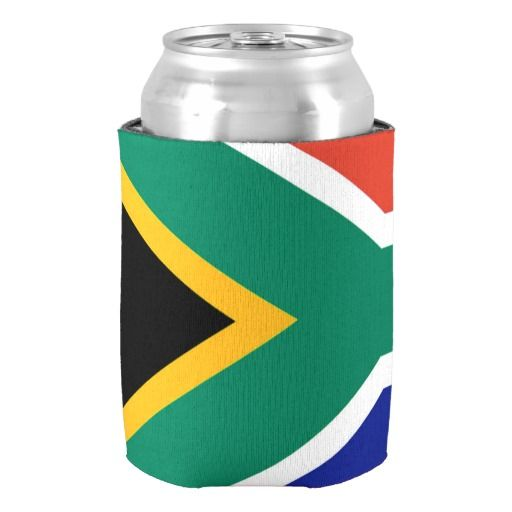 South Africa flag can cooler