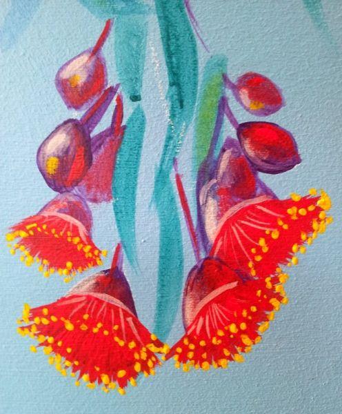 Flowers from GUM TREE MURAL by Australian Artist, Selinah Bull http://www.selinahbull.com