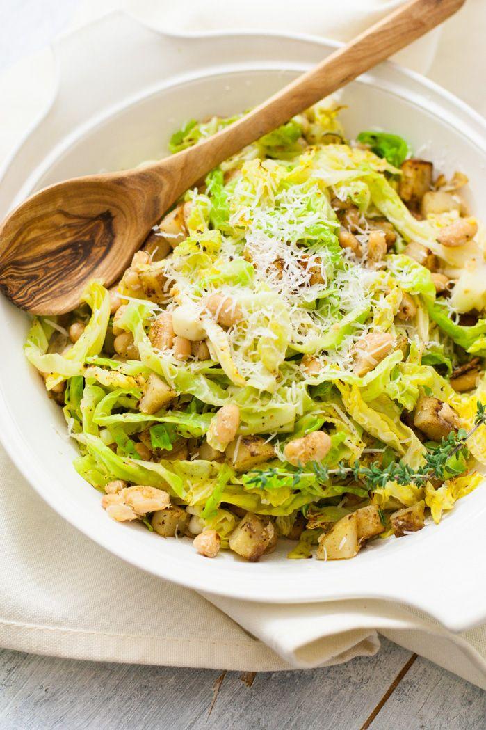 Cabbage, Potatoes & White Beans (v, gf) | mycaliforniaroots.com |