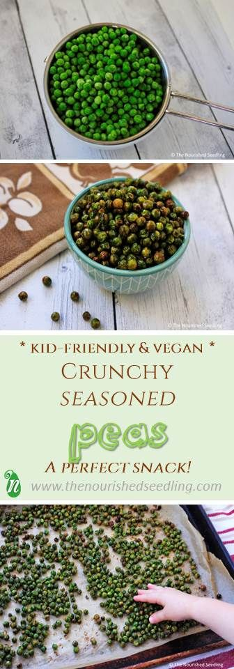 Peas are rich in protein and fiber, and when roasted with just the right spices, they turn into a deliciously crunchy snack for all!