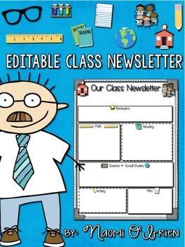 Best 25+ Classroom newsletter free ideas on Pinterest