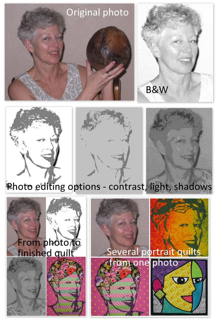 Create a portrait pattern from a photo | Terry Aske Art Quilt Studio