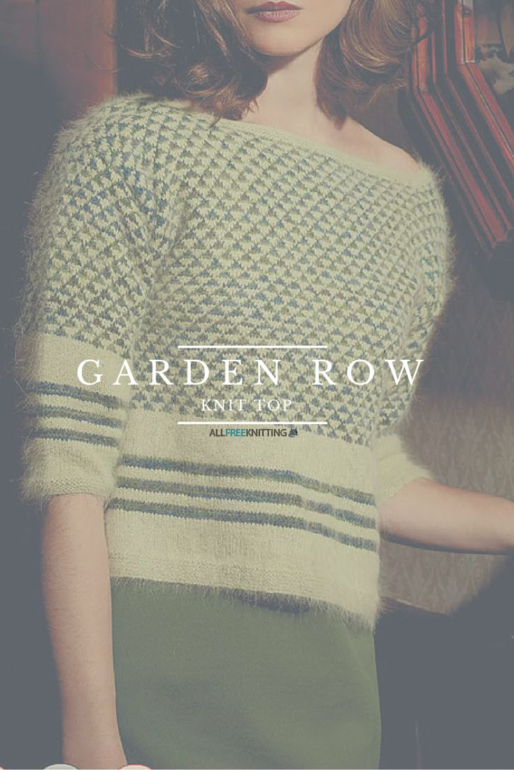 This top is so retro, I love it. Free knitting pattern