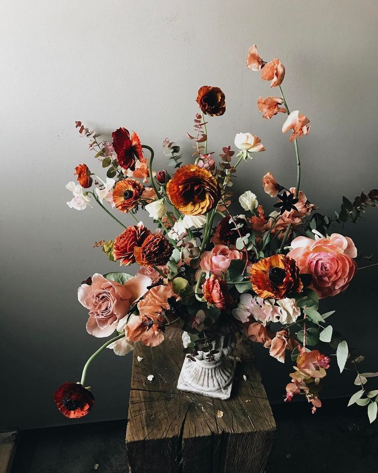 Late summer pinks organic wild floral arrangement by Soil and Stem