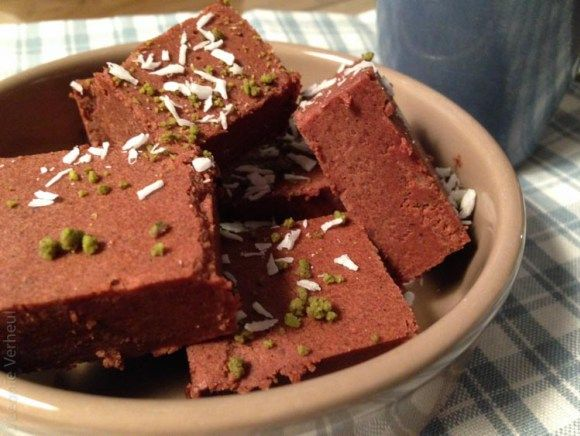paleo chocolade fudge close