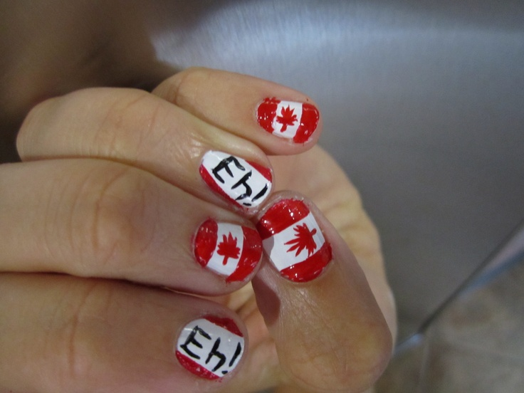 Nails today gone tomorrow  Canada day nail art