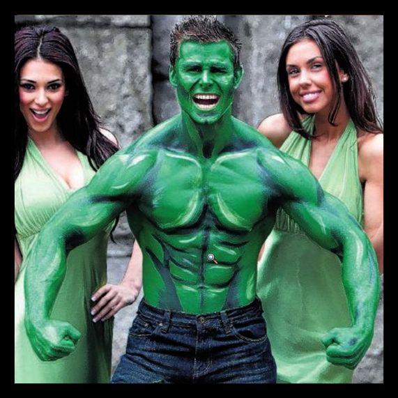 incredible hulk halloween costume bodypaint