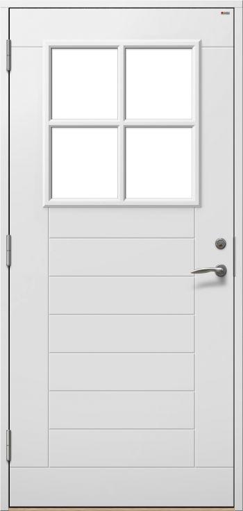Isolerade ytterdörrar i trä, välj med eller utan fönster | Ekodoor