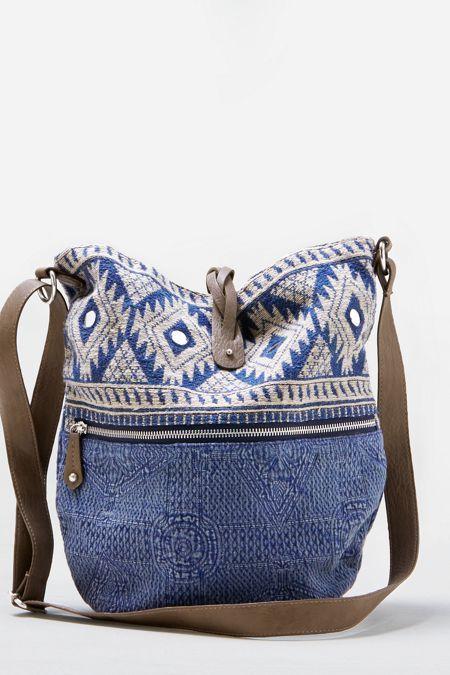 American Eagle Outfitters American Eagle Jaquard Hobo Handbag (Luggage)