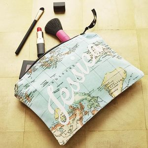 Personalised Travel Map Accessory Pouch - bags & purses