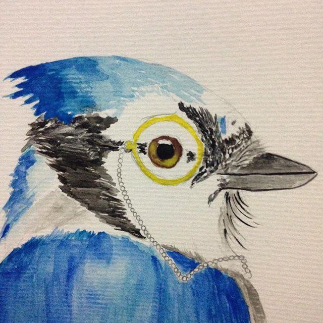 Intentando con este Blue Jay. . . #santiago #chile #wip #bluejay #Cyanocittacristata #bird #watercolor #watercolorillustration #illustration #ilustracion #kidsillustration #acuarela #watercolour #wasserfarben #ilustradoraschilenas #sir
