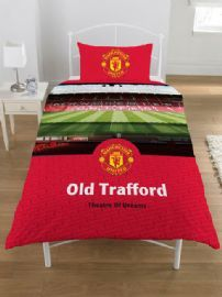 Manchester United FC Old Trafford Single Duvet Cover - Bedding #MUFC  #ManUtdDuvet #ManUtdBedding