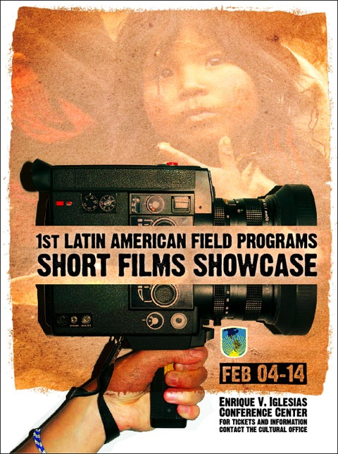 Poster created to promote the different social projects run in different countries in Latin America.