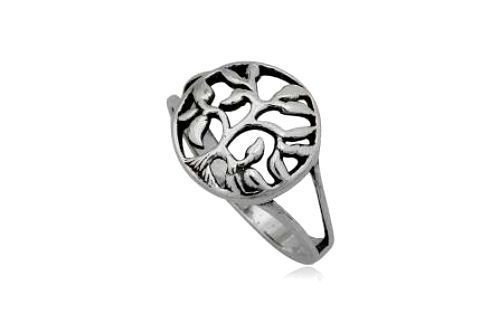 Sterling Silver 925 Tree of Life Ring Size 9 US R AU Width 1.40cm 14mm