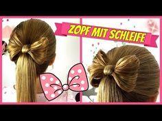 ❤ Minnie Mouse Schleife ❤ Hochsteckfrisur Schleifendutt ❤ Frisur für Mädchen - YouTube