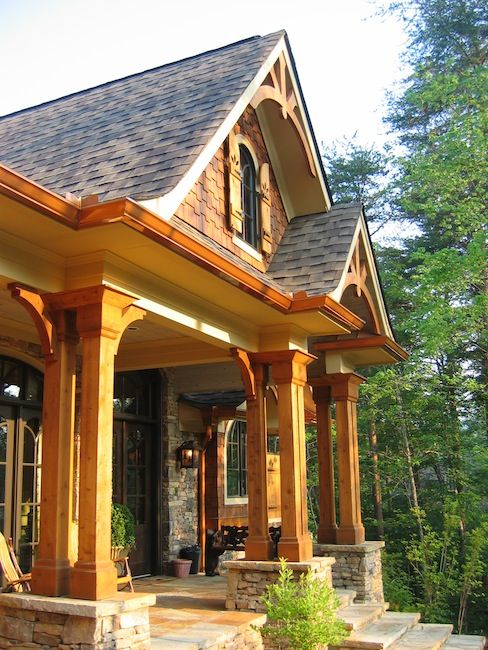 71 best images about houses on pinterest for Rustic house plans with porches