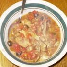 Recipe photo: Pheasant stew with mushrooms and olives