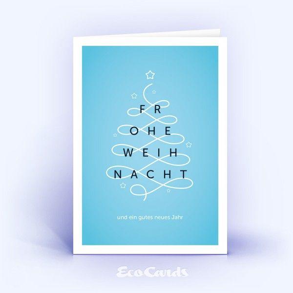 Die in Blautönen gehaltene geschäftlichen Weihnachtskarten und andere moderne Kartenmotive für Ihr Geschäft oder Unternehmen online drucken lassen.