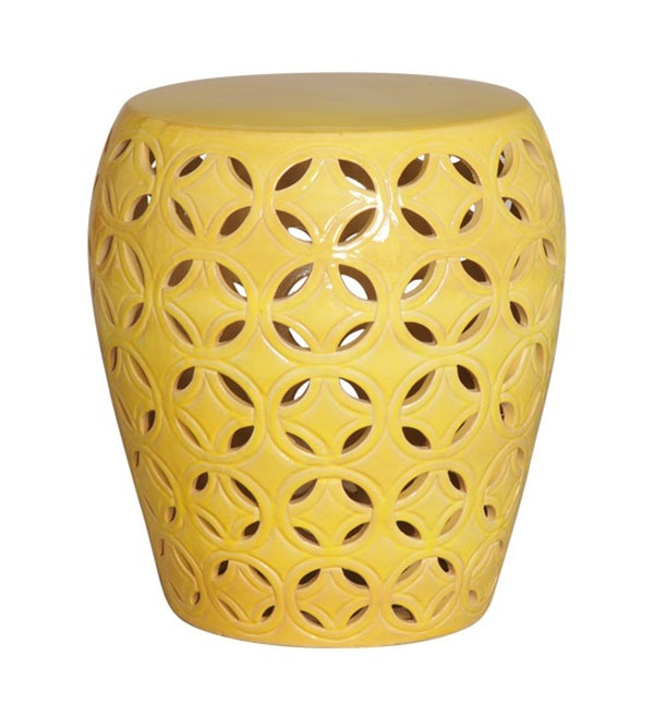 Large Lattice Yellow Glaze Ceramic Garden Stool-Our large Lattice Yellow Glaze Ceramic Garden Stool or End Table offers a pleasant look in any indoor or ...  sc 1 st  Pinterest & 235 best Garden decor images on Pinterest | Garden stools Ceramic ... islam-shia.org