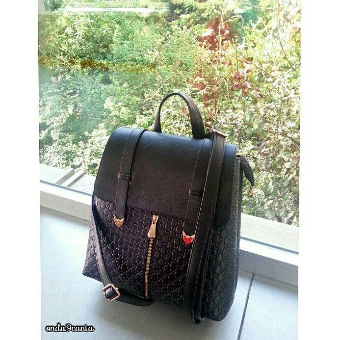 Gucci Desen Backpack / Sırt Çantası Siyah ❤ #matthewcox marka 130tl kargo dahil