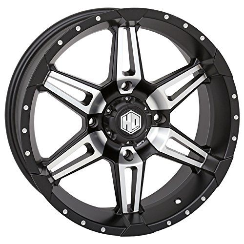 STI HD7 Machined/Matte Black ATV Wheel 18x7 4/156 (4+3) [18HD703]. For product info go to:  https://www.caraccessoriesonlinemarket.com/sti-hd7-machinedmatte-black-atv-wheel-18x7-4156-43-18hd703/