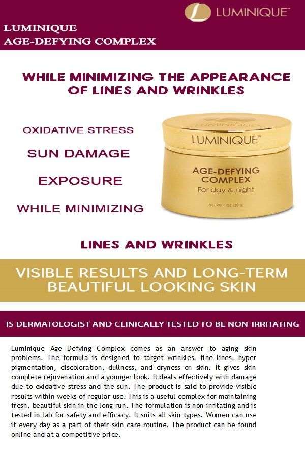 #Luminique suits all skin types. Women can use it every day as a part of their skin care routine.