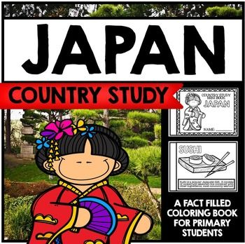 "This 24 Page ""All About Japan"" country study mini booklet project  is perfect your upcoming Japan unit, lesson, multicultural study, cultural fair, or country study. Full of information about Japan, this fun coloring book includes information about Japan written in engaging informational text that is perfect for the lower elementary grades."