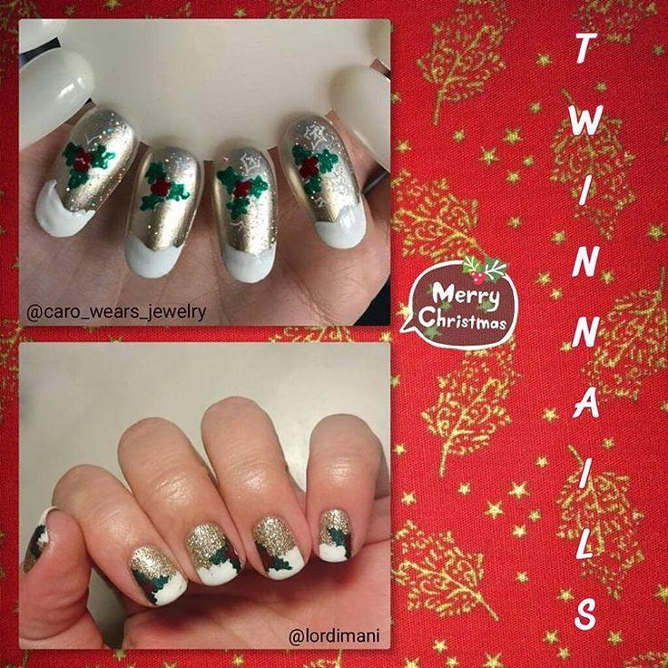 "FIL Twinnails Décembre : ""Noël + Stamping"" avec @caro_wears_jewelry"