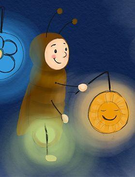 Glühwürmchen Bert und die Laterne – Warum feiern wir St. Martin? Eine Lerngeschichte für Kinder. – C.S.