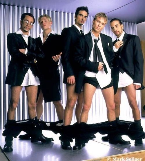 Our boybands weren't afraid to drop their pants,